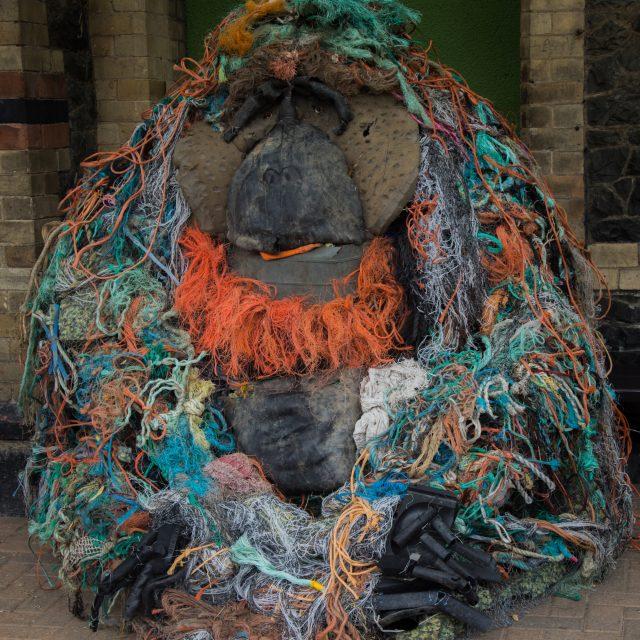 Dr. Sen – Orangutan sculpture made from recycled materials