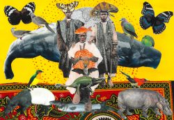 Mixed media collage print by Jacha Potgieter