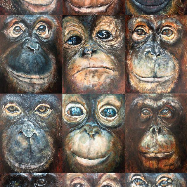 Orangutan painting compilation print