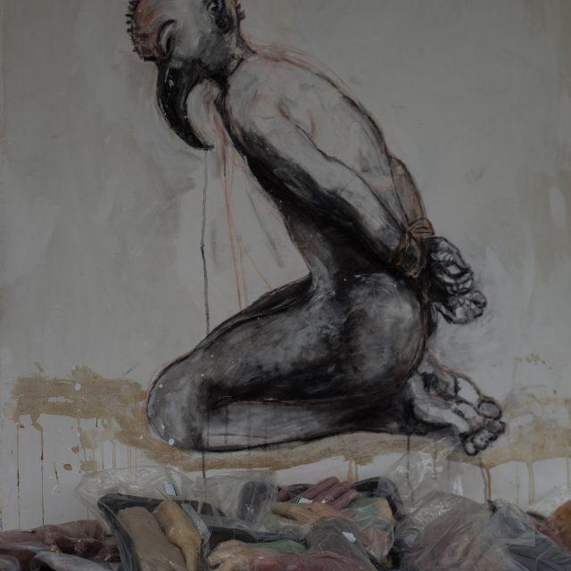 Bushmeat: a painting and sculpture